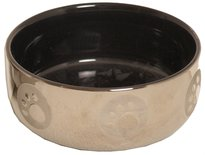 Katteneetbak royal zilver/zwart