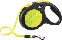 Flexi rollijn neon tape zwart/geel