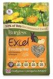 Burgess excel feeding hay paardenbloem en goudsbloem