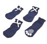 Croci sokken hond elegant strik donkerblauw