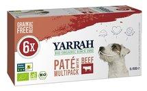 Yarrah dog alu pate multipack beef/chick