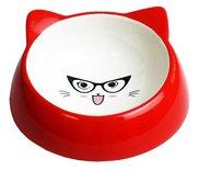 Happy pet voerbak kat specs rood