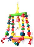 Happy pet speelgoed double swing papegaai