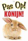 Waakbord nederlands kunststof konijn