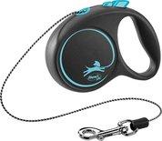 Flexi rollijn black design cord blauw