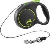 Flexi rollijn black design cord groen