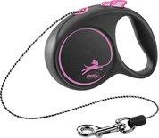 Flexi rollijn black design cord roze