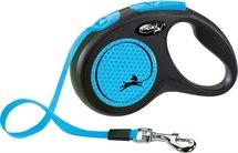 Flexi rollijn new neon tape zwart / neon blauw