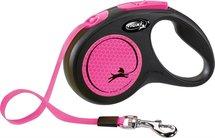 Flexi rollijn new neon tape zwart / neon roze