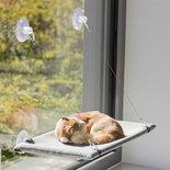 Trixie kattenmand hangmat raam velours grijs