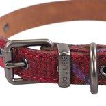 Joules halsband hond heritage tweed leer rood