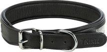 Trixie halsband hond active comfort met strass steentjes leer zwart