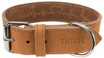 Trixie halsband hond rustic vetleer heartbeat bruin
