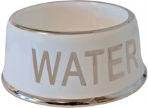 Drinkbak hond water wit/zilver