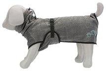 Trixie badjas hond badstof grijs