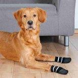 Trixie hondensokken anti-slip met rubberlaag rondom zwart