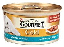 24x gourmet gold fijne hapjes zalm / kip