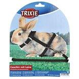 Trixie konijnentuig met riem assorti