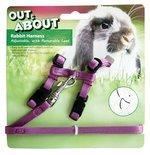 Happy pet konijnen harnas en looplijn paars