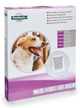 Petsafe hondenluik large wit/transparant
