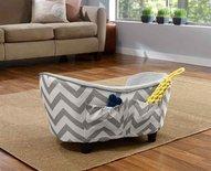 Enchanted hondenmand sofa chevron grijs