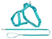 Trixie kattentuig premium met riem turquoise