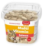 Sanal cat multi vitamin salmon snacks cup