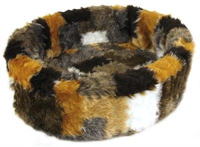 Petcomfort kattenmand bont lapjesdeken beige