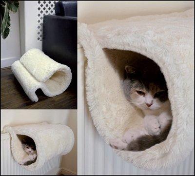 Rosewood radiator tunnel voor kat wit