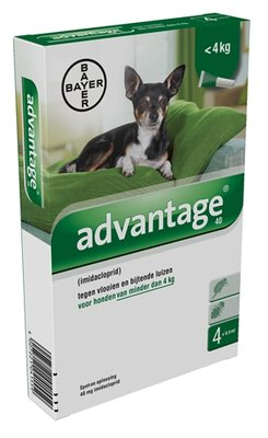 Bayer advantage hond 4 pipetten