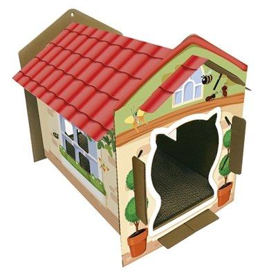 Croci kattenhuis villa print karton