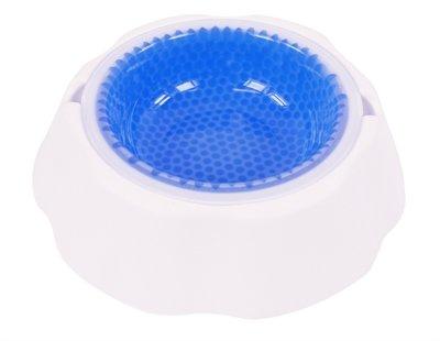 Drinkbak hond koelbak wit / blauw