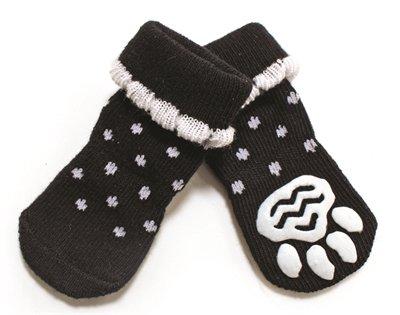 Croci sokken hond polka dots zwart / wit