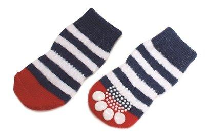 Croci sokken hond vintage sailor blauw / wit