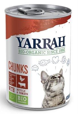 12x yarrah cat blik brokjes kip/rund in saus
