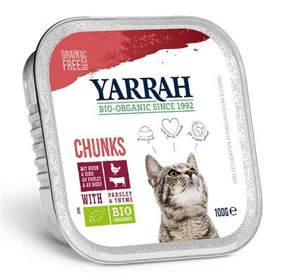 16x yarrah cat kuipje brokjes kip/rund