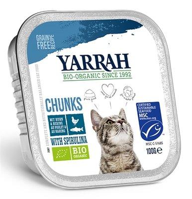 16x yarrah cat kuipje brokjes kip/haring