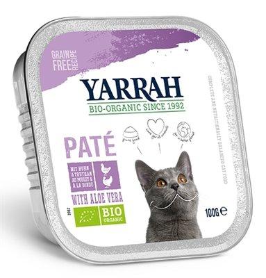16x yarrah cat kuipje wellness pate kip/kalkoen aloe vera