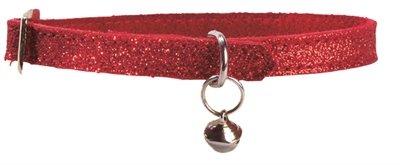 Bobby kattenhalsband glitter rood