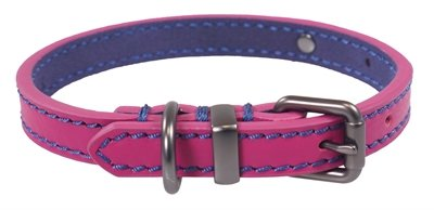 Joules halsband hond leer roze