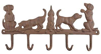Hanger 5 honden gietijzer