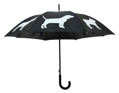 Paraplu honden reflecterend / zwart