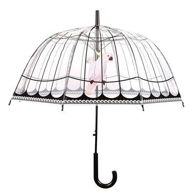 Paraplu vogelkooi transparant / zwart
